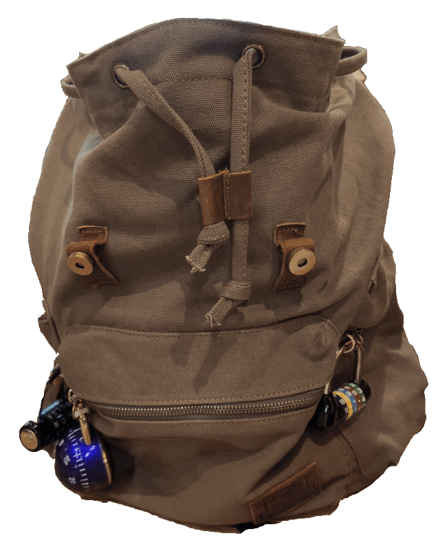 backpack used in the escape brussels game