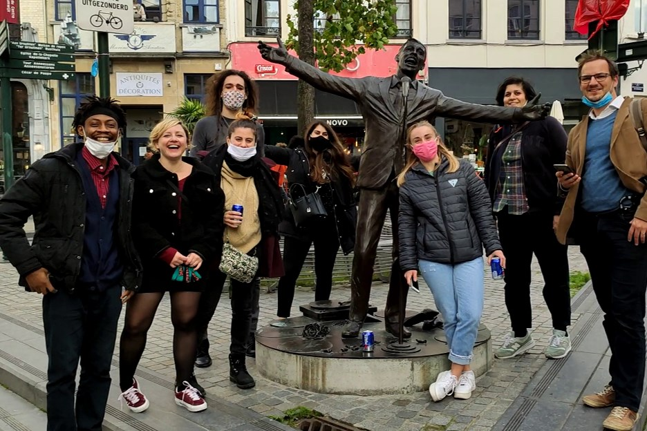 teambuilding in brussels with a group of people escape game outdoor